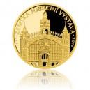 2016 - Zlatá medaile Zemská jubilejní výstava v Praze - číslováno - Au 1/2 Oz
