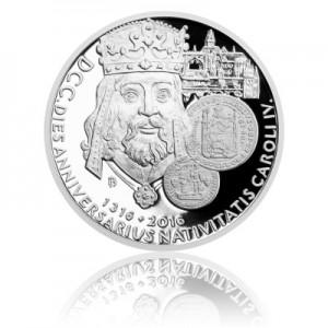 2016 - Stříbrná mince 2 NZD Karel IV. - Proof