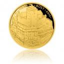 Hrad Kost - zlatá mince z cyklu Hrady České republiky - špičková kvalita - Proof