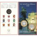 Rakousko - 50 Schilling - Předsednictví Rakouska v Radě EU, rok 1998