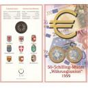 Rakousko - 50 Schilling - Měnová unie - zavedení EURO měny, rok 1999