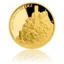 Hrad Bezděz - zlatá mince z cyklu Hrady České republiky - špičková kvalita - Proof - emise říjen 2016 - orientační cena