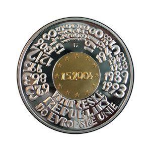 Pamětní bimetalová mince Vstup České republiky do EU - Proof