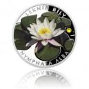 2016 - Stříbrná mince 1 NZD Leknín bílý - kolorováno