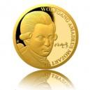 2016 - Zlatá mince 25 NZD W. A. Mozart - Proof - 1/2 Oz