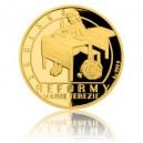 2017 - Zlatá mince 10 NZD Reformy Marie Terezie - školská - Proof