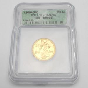 Zlatá mince Svobodné město Gdaňsk - Polsko 25 Gulden 1930