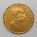 Zlatá mince Rakousko-Uhersko 10 Koruna 1909 (typ Marschall)