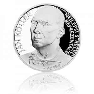 2017 - Stříbrná mince 2 NZD Jan Koller - Proof