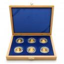 Sada šesti zlatých medailí Národní numismatická epopej