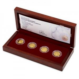 2017 - Sada 4 zlatých mincí 5 NZD Šlechtický rod pánů z Rožmitálu