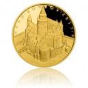Hrad Bouzov - zlatá mince z cyklu Hrady České republiky - špičková kvalita - Proof