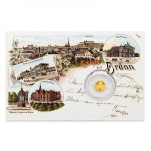 2017 - Zlatá mince 5 NZD Brno - Stará radnice - Proof