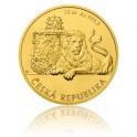 2017 - Zlatá mince 500 NZD Český lev - 10 Oz