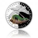 2017 - Stříbrná mince 1 NZD Ještěrka zelená - kolorováno