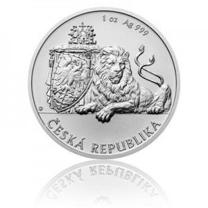 2017 - Stříbrná mince 1 NZD Český lev - 1 Oz