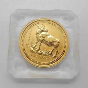 Zlatá investiční mince Year of the Ox, Rok býka 1/4 Oz - rok 1997
