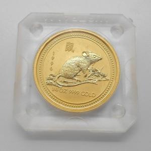 Zlatá investiční mince Year of the Mouse, Rok krysy 1/4 Oz - rok 1996
