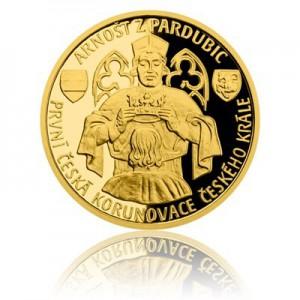 2017 - Zlatá mince 10 NZD Arnošt z Pardubic - Au 1/4 Oz