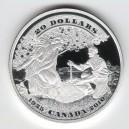 Stříbrná mince První kanadská bankovka - rok 2010