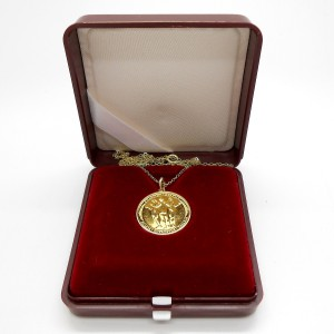 2007 - Zlatá medaile Tři Grácie - na řetízku, Au 1/10 Oz