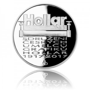 Stříbrná mince Sdružení Hollar - Proof - emise říjen 2017 - orientační cena