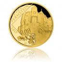 Hrad Pernštejn - zlatá mince z cyklu Hrady České republiky - špičková kvalita - Proof