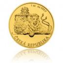 2018 - Zlatá mince 250 NZD Český lev - 1 Oz - číslováno
