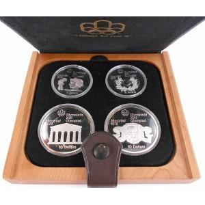 Sada čtyř stříbrných mincí LOH Montreal 1976, Proof - rok 1974 I.