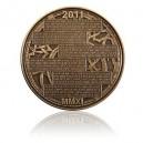 Mosazná medaile Kalendář roku 2011