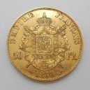 Zlatá mince Francie 50 Frank 1858 A