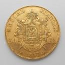Zlatá mince Francie 50 Frank 1857 A