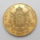 Zlatá mince Francie 50 Frank 1867 A