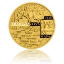 2018 - Zlatá medaile Klaudyánova mapa - číslováno - Au 1/2 Oz