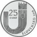 Stříbrná pamětní mince 25. výročí vzniku Slovenské republiky 2018, Proof