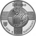 Stříbrná pamětní mince Uznání slovanského jazyka 2018, Proof