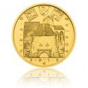 Hrad Zvíkov - zlatá mince z cyklu Hrady České republiky - běžná kvalita - Standard
