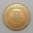 Zlatá mince Tunisko 20 Frank 1904 A
