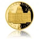 2018 - Zlatá medaile Národní muzeum - číslováno - Au 1/2 Oz