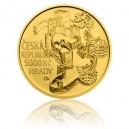 Hrad Rabí - zlatá mince z cyklu Hrady České republiky - běžná kvalita - Standard
