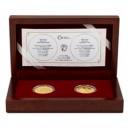 2018 - Sada 2 zlatých mincí 10 NZD Zlatá růže od papeže