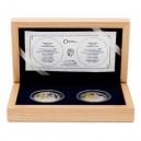 2018 - Sada 2 stříbrných mincí 1 NZD Zlatá růže od papeže