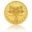Zlatá pamětní mince Vznik Československa - běžná kvalita - Standard