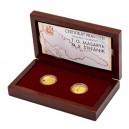 Sada dvou zlatých medailí T. G. Masaryk a M. R. Štefánik