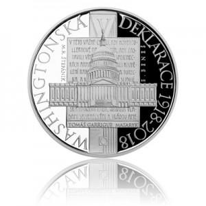 Stříbrná mince Washingtonská deklarace - Proof