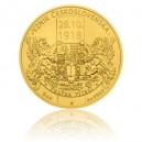 2018 - Zlatá mince 250 NZD Vznik Československa - 5 Oz