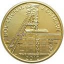 Zlatá mince Národní kulturní památka důl Michal Ostrava - b.k. - emise 6. října 2010