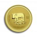 Zlatá investiční mince Year of the Pig, Rok Prasete 1 Oz - rok 2007