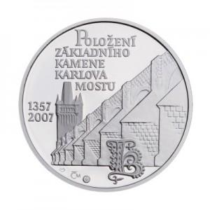2007 - Platinová medaile Karlův most, Pt 1 Oz