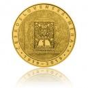 Zlatá pamětní mince Vznik československé měny - běžná kvalita - Standard